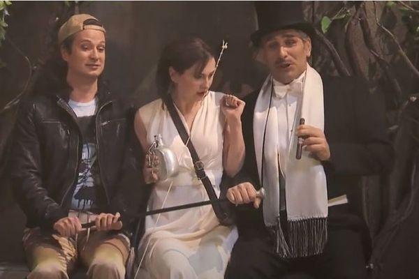 La Calisto avec Nicolay Borchev (Mercurio), Elena Tsallagova (La Calisto) et Giovanni Battista Parodi (Giove).
