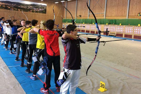 Certains jeunes archers étaient venus avec pour objectif de se qualifier pour les championnats de France fin février 2018, à Vittel.