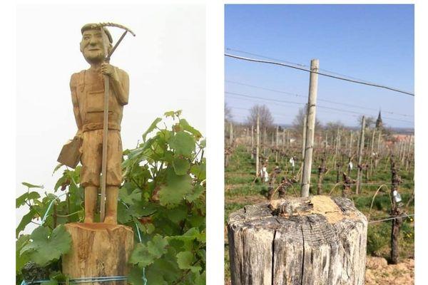 Une statue représentant Léon Meyer, le grand-père, exposée dans le domaine viticole a été dérobée au début du mois d'avril