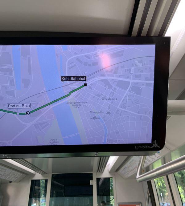 """Terminus du tram D jusqu'au 15 juin : """"Kehl-Bahnhof"""""""