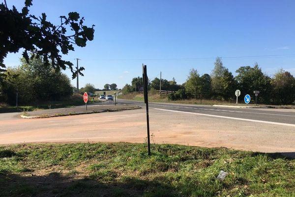 Le carrefour de la Tremblais à Nouvoitou, lieu de l'accident du lundi 22 octobre