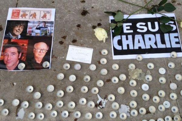Sur le parvis des Droits de l'Homme à Bordeaux, le 08 janvier 2015