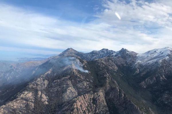 L'incendie de Calinzana vu du ciel