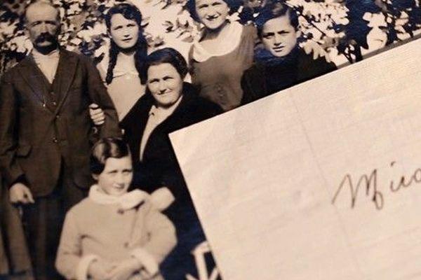 La photo et la lettre retrouvées