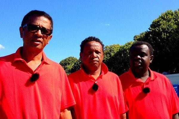 Eric-Michel Ramananjanahary, tireur, Hery Nirina Edmond Ratsimba, milieu et Jafetra Rambelo, pointeur
