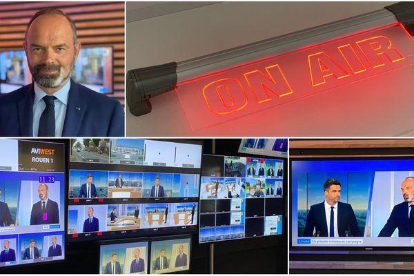 Candidat au Havre, le Premier Ministre Édouard Philippe était l'invité du 19/20 de France 3 Normandie, mardi 16 juin 2020, quelques jours avant le second tour des élections municipales 2020.