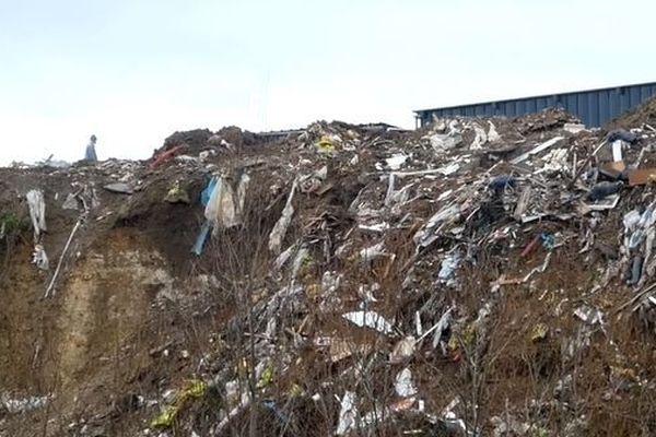 """La décharge telle qu'elle a été photographiée par l'association de défense de l'environnement """"Robin des Bois"""" en janvier 2020"""