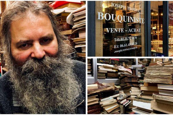Joseph Trotta et sa boutique de la rue Beauvoisine, à Rouen, sont connus des amateurs de livres anciens et belles trouvailles littéraires.