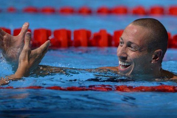 Barcelone (Espagne) - Frédérick Bousquet, un Catalan en bronze en 50m papillon aux Mondiaux de natation - 29 juillet 2013.