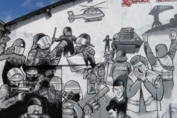 La fresque pour Steve quai Wilson, Nantes France Televisions - Luc Prisset