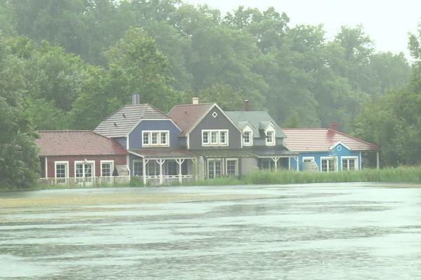 Le complexe hôtelier Center Parcs à Chamouille a lui aussi été touché par les inondations.