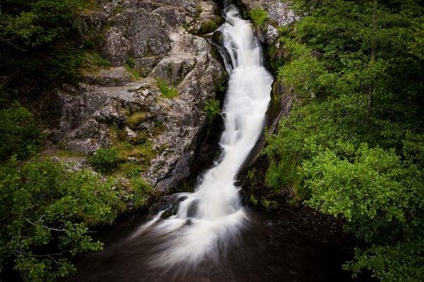 Le saut de Gouloux, au cœur du parc naturel régional du Morvan.