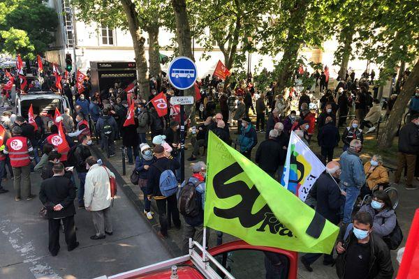 A Bordeaux, le cortège de la Fête du travail partira de la place de la république à 10 h 30 à l'appel de la CGT, FO, FSU et Solidaires.