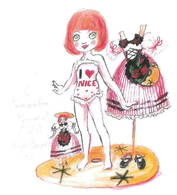 """Le """"Carnavalon"""", l'enfant du Roi et de la Reine du carnaval qui, pour la première année, est une fille et est signé d'une femme : Virginie Broquet."""