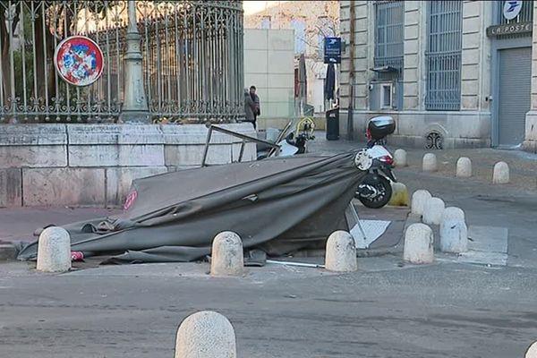 Des dégâts sont à déplorer en centre-ville de Montpellier après l'acte VIII des gilets jaunes