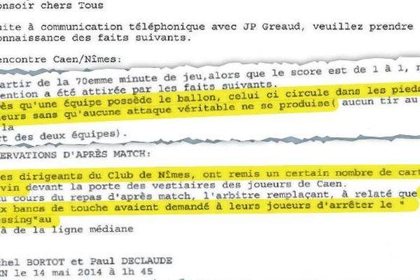 La capture du rapport faite par nos confrères du Parisien