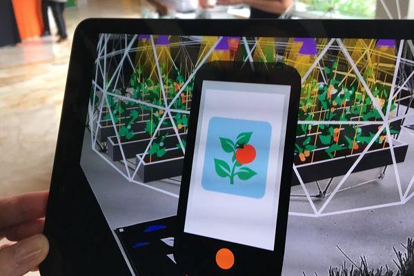 Une démo au salon de la recherche d'Orange à Rennes, pour la plateforme Thing of the Future