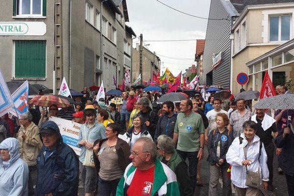 La manifestation contre la casse des services publics dans les rues de Guéret
