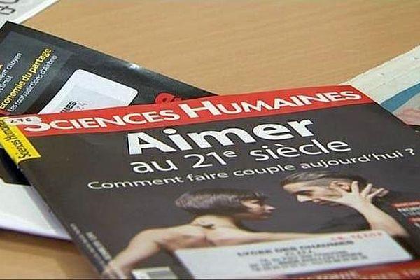 """Le magazine """"Sciences Humaines"""" dont la rédaction est basée à Auxerre."""