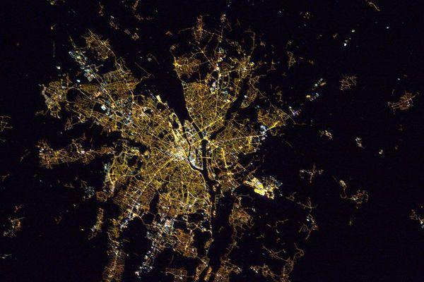 Nantes vu de l'espace par Thomas Pesquet