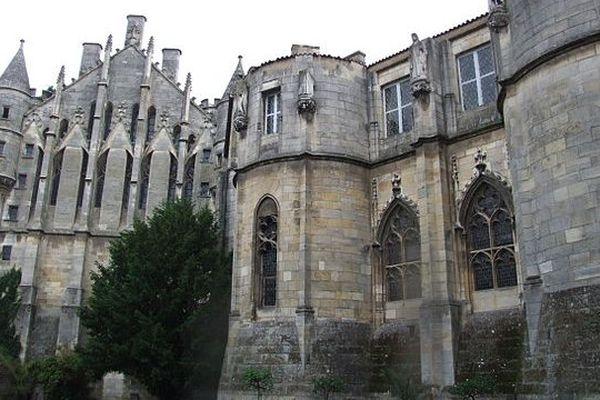 La partie arrière du palais de justice de Poitiers