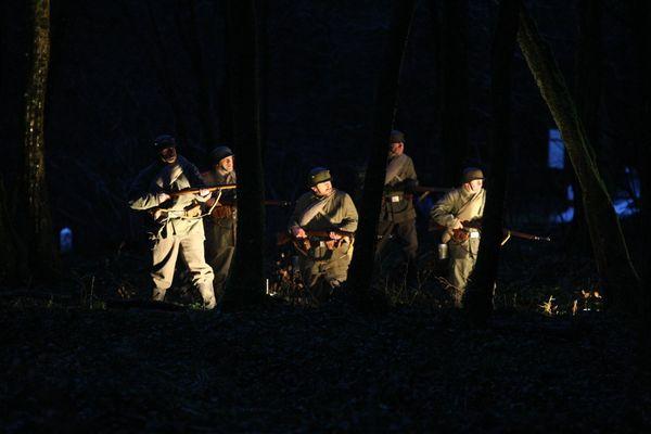 Commémoration au bois des Caures, 21 février 2016