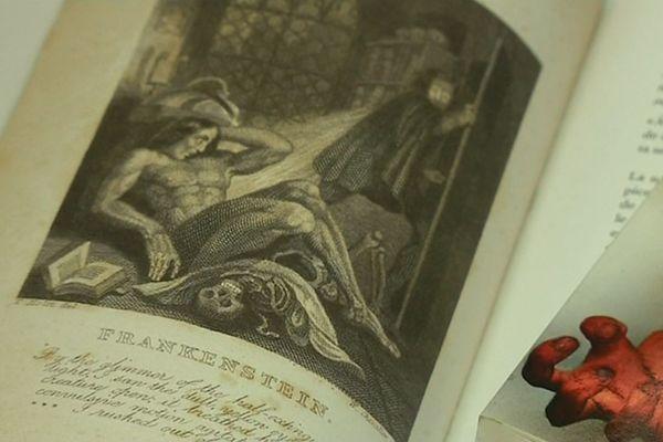 """Illustration du roman de Mary Shelley """"Frankenstein ou le Prométhée moderne"""""""