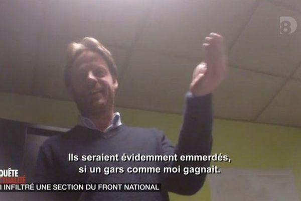 Hugues Sion filmé par D8.