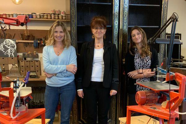 Marie-Noelle LE CAM, de la Chambre des métiers, accompagne l'entreprise MH Poisson