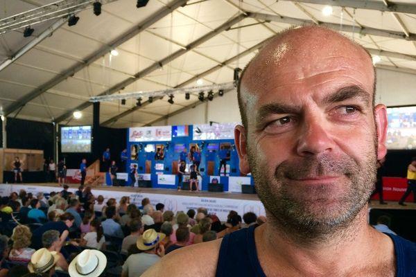 Christophe Riffaud, organisateur du mondial de tonte au Dorat et champion de France de tonte machine