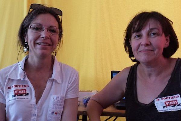 Pascale Robert, maman de Pierre Legrand enlevé au Sahel il y a 3 ans et Martine Gauffeny d'Otages du Monde