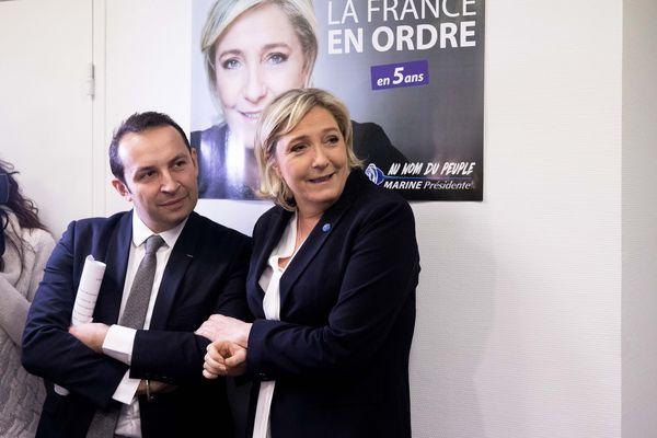 Sébastien Chenu et Marine Le Pen bien placés pour décrocher leur fauteuil à l'Assemblée Nationale