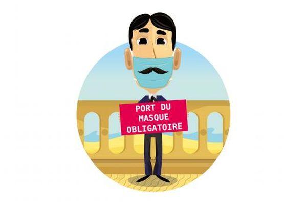 Affiche Marcel Proust masqué à Cabourg.