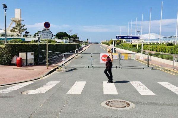 L'accès à la plage de Deauville est actuellement fermé.