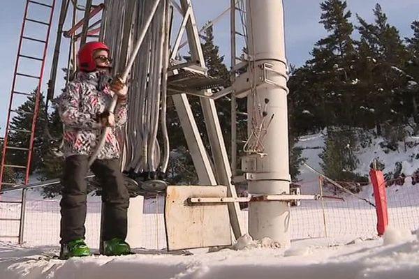 Les premiers vacanciers profitent de la neige au Mont-Lozère - février 2018