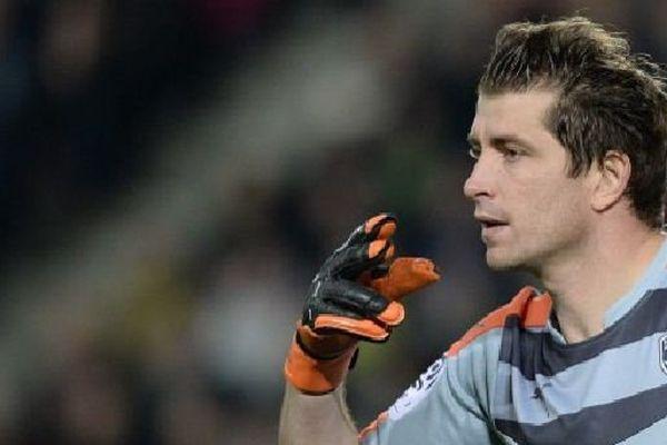 Cédric Carrasso, le gardien bordelais, le 23 janvier 2016 avant sa blessure au genou et son interruption de 6 mois