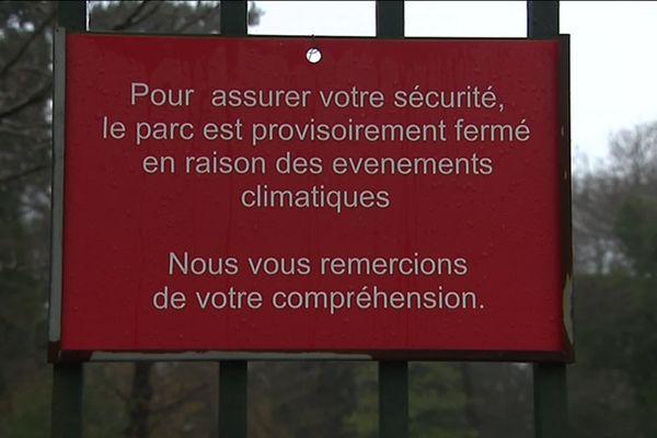 A Nancy les parcs et jardins sont fermés en raison des vents violents annoncés