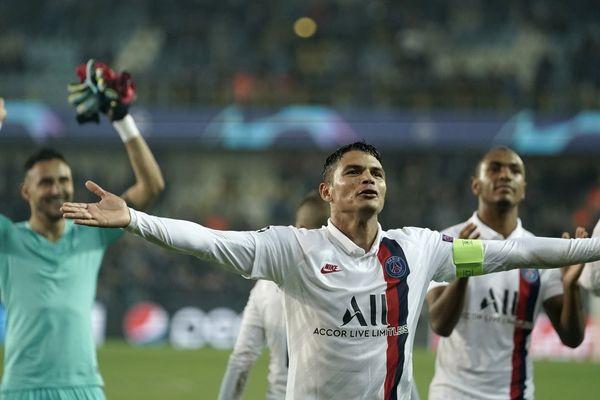 Thiago Silva, le capitaine du PSG, après la victoire des Parisiens à Bruges le 22 octobre dernier.