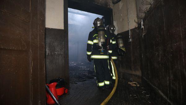 L'intérieur de la sacristie a été détruit par les flammes.