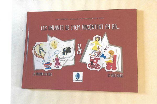 """Couverture du livre """"les enfants de l'IEM racontent en BD""""."""