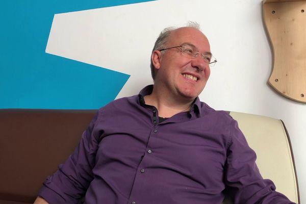 Alain Damasio pendant notre interview à Bordeaux
