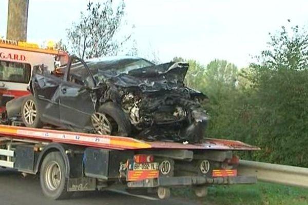 L'un des véhicules accidenté