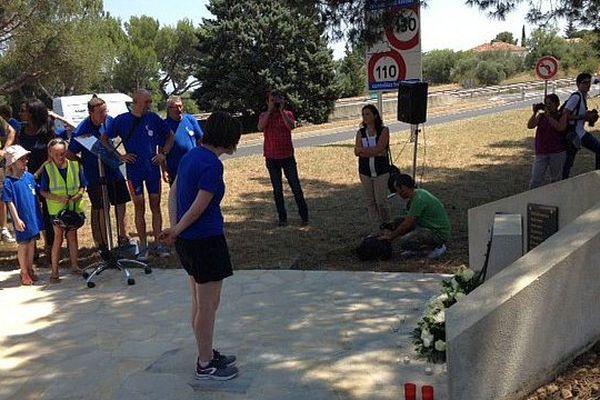 Roquemaure (Gard) - cérémonie du souvenir 20 ans après l'accident - 10 juillet 2015.