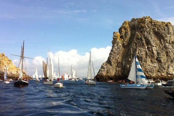 Les bateaux entre Brest et Douarnenez
