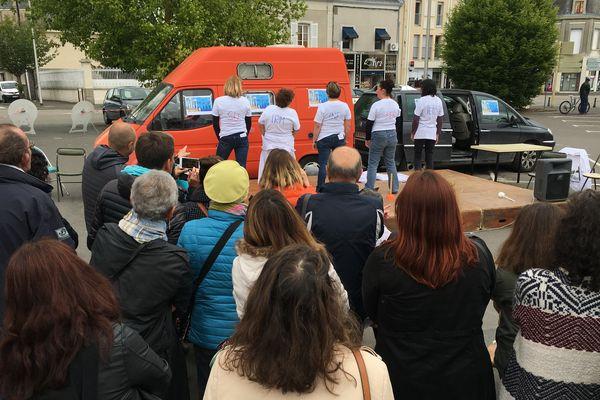 Mobilisation à l'occasion de la journée régionale de la psychiatrie à Thouars (Deux-Sèvres)
