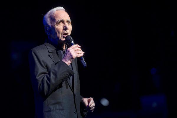 Charles Aznavour en concert il y a quelques semaines à Barcelone