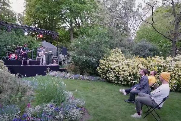 Le groupe nantais Ultra Vomit en concert ultra privé à l'Elysée.