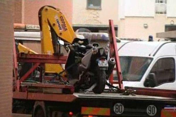 Le scooter le jour de sa saisie en mars 2012
