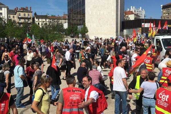 Plusieurs organisations syndicales ont appelé à une journée de mobilisation mardi 24 septembre. Photo : mobilisation en avril 2019.