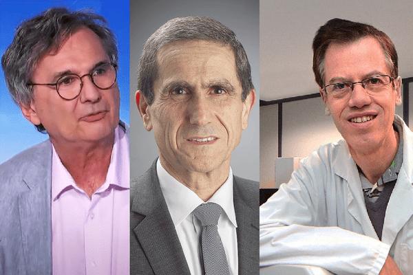 Patrick Goldstein (patron des urgences du CHU de Lille), Philippe Amouyel (professeur au CHU) et Philippe Froguel (professeur à l'Université de Lille 2)